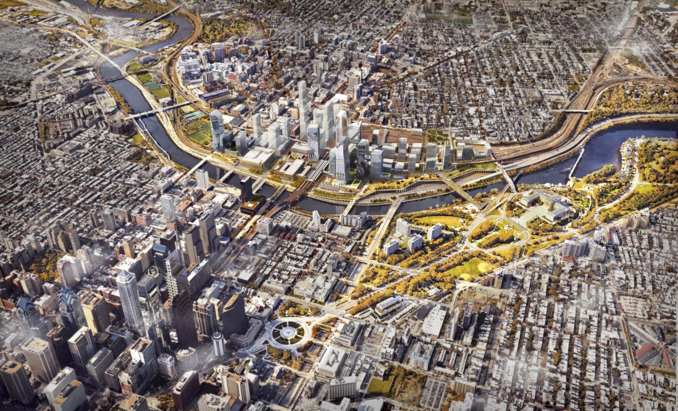 Slide 1 of 1, Philadelphia 30th Station Aerial Masterplan