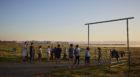 UC Merced's cross country running team at sunrise. Photos: Dave Burk © SOM