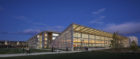 The Pavilion with Sustainability Research and Engineering Building beyond. Photo: Dave Burk © SOM