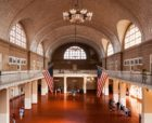 Guastavino tile arches at the Ellis Island Registry Room.