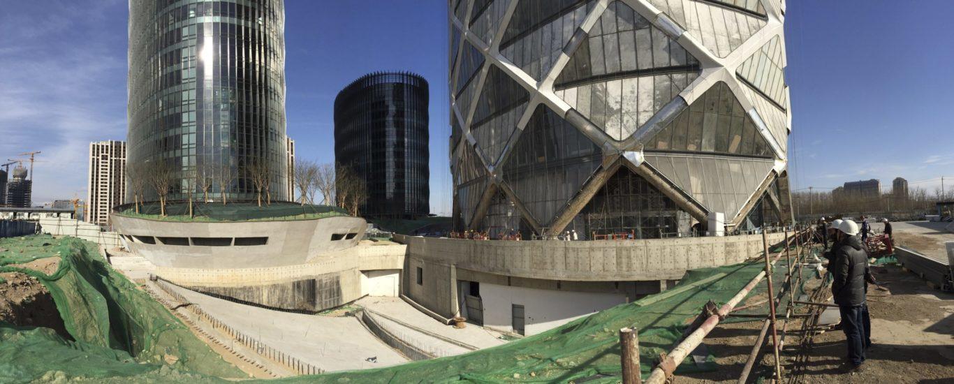 Slide 4 of 8, Poly International Plaza under construction