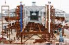 Construction work on Terminal 1's southeast pier.