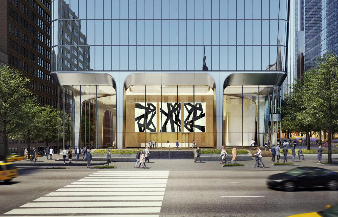 Slide 7 of 7, Two Manhattan West Lobby