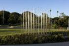 "Iñigo Manglano–Ovalle's kinetic ""Weather Field No. 1"" sculpture."