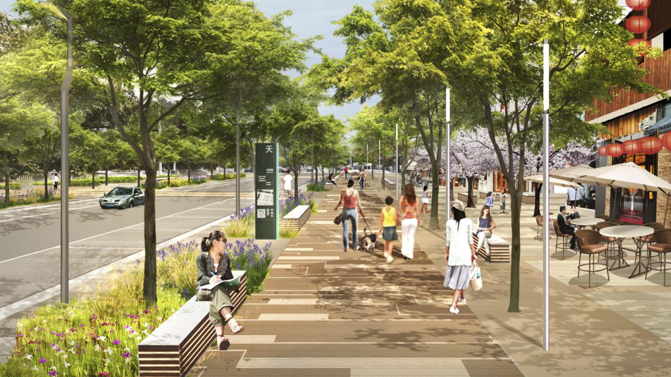 Slide 6 of 9, Zhengzhou Public Realm Improvement Plan