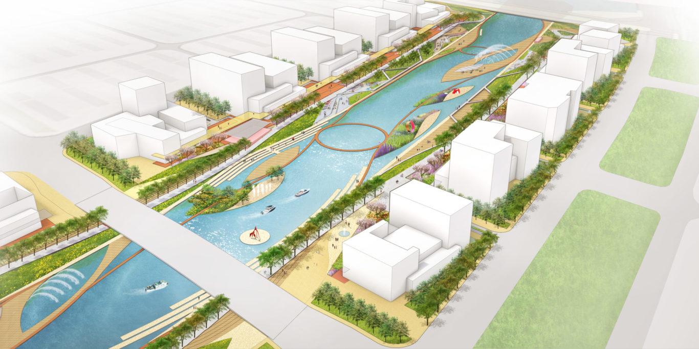 Slide 1 of 9, Zhengzhou Public Realm Improvement Plan